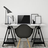 Mock up modern workspace template mock up background Stock Images