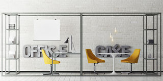 Mock up office space, cafe Stock Images