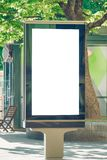 Mock up. Blank billboard outdoors, outdoor advertising, public information board stand in the city. Stock Photography