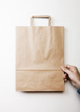 Mock up of paper bag Stock Images
