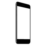 Mock up phone black color on grey background Stock Photos