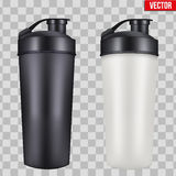 Mock-up Plastic Sport Nutrition Drink Bottle. Stock Images