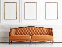 Mock up poster in classic interior, Royalty Free Stock Photos