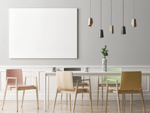 mock up poster in hipster dining room, stock illustration - image