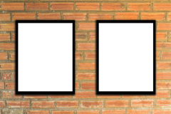 Mock up poster frame and brick wall hipster or vintage.3 Royalty Free Stock Photos