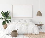 Free Mock-up Poster Frame In Bedroom, Scandinavian Style Stock Image - 122646771