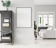 Free Mock Up Poster Frame In Home Interior Background Royalty Free Stock Photos - 139256178