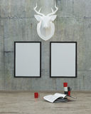 Mock up poster frame in modern interior background Royalty Free Stock Image
