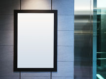 Mock up Poster Frame with Spot light Interior Background Royalty Free Stock Images