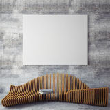 Mock up poster frames in hipster interior background Royalty Free Stock Photography
