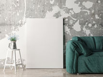 Mock up poster with green sofa Royalty Free Stock Photo