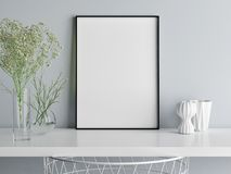 Mock up poster minimalism composition, you art work here Royalty Free Stock Photo