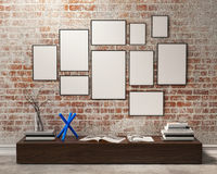 Free Mock Up Posters Frames Stock Photo - 55096930