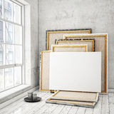 Mock up posters frames Stock Image