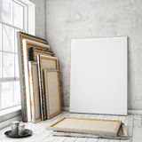 Mock up posters frames Stock Images