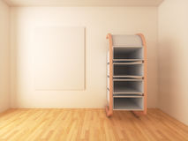 Mock-up posters with shelf design on empty room Royalty Free Stock Photography