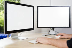 Mock-up presentation screens Stock Photography