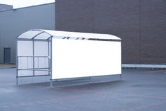 Mock up. Shoping trolley bay in a parking lot near supermarket Royalty Free Stock Image
