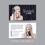 mock up of sound store business card Royalty Free Stock Images