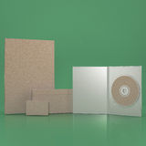 Mock up template set on green background. Filtered image. Set of Retro Mock up template on green background stock photo