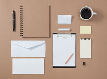 Mock up template of stationary and electronic tools in every day Stock Images