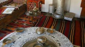 Mock up of traditional turkish village life, safranbolu, turkey stock footage