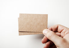 Mock up of two business cards Stock Photography