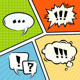 Mock-up Typical Comic Book. Vector Stock Images