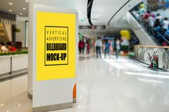 Vertical Mock up advertising roll up at the mall royalty free stock photos