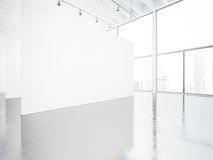 Mock up of white space gallery interior. 3d render Stock Photo