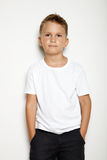 Mock up of young kid on the white background Royalty Free Stock Photos