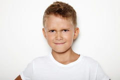 Mock up of young man showing some angry emotion Royalty Free Stock Images