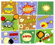 Mock-ups of comic book speech bubbles Stock Photo