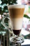 Mockakaffe tre lager Arkivfoton