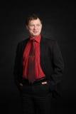Mockery man. Mockery business man in studio stock image