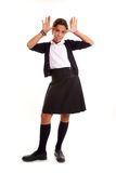 Mocking schoolgirl Stock Photography