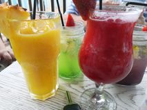 Mocktails on a hot day royalty free stock photography