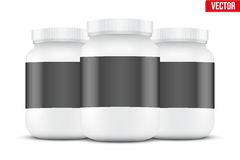 Mockup Background of Sport Nutrition Container Stock Photo