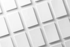 Mockup białe wizytówki układać w rzędach Fotografia Stock