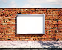 Mockup billboard on the wall. 3d Royalty Free Stock Photography