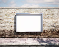 Mockup billboard on the wall. 3d Royalty Free Stock Images