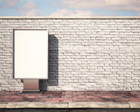 Mockup billboard on the wall. 3d. Mockup billboard on the wall Stock Photos