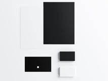 Mockup biznesowy szablon ustawiający na białym tle Obrazy Stock