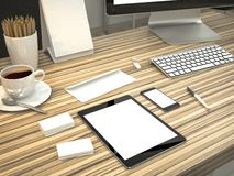 Mockup biznesu szablon Wysoka Rozdzielczość Obraz Stock