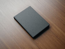 Mockup of black book. 3d rendering Stock Image
