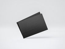 Mockup of black business cards. 3d rendering. Mock up of black business cards. 3d render Royalty Free Stock Photo