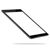 Mockup black tablet perspective view  on white vector design. Mock up black tablet perspective view  on white vector design Stock Image