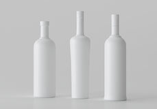 Mockup Blank 3d illustration Alcohol Bottle, copyspace. Mockup Blank 3d illustration Alcohol Bottle, copyspace packaging Stock Photo