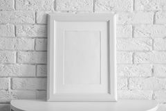 Mockup of blank frame stock images