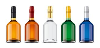 Mockup bottles of alcoholic beverages Stock Photography